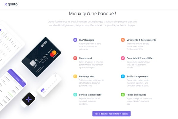 Qonto banque en ligne pour les professionnels