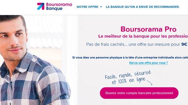 Comptre pro chez Boursorama